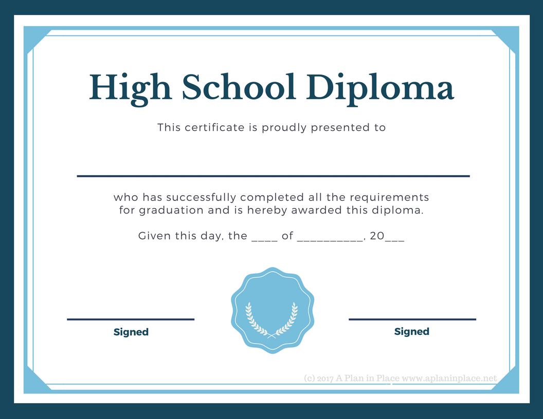 High school diploma printable pictures to pin on pinterest for 6th grade graduation certificate template