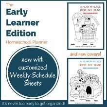 homeschool planner - kindergarten