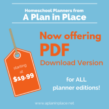 a plan in place download your homeschool planner