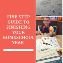 5 step finish homeschool year