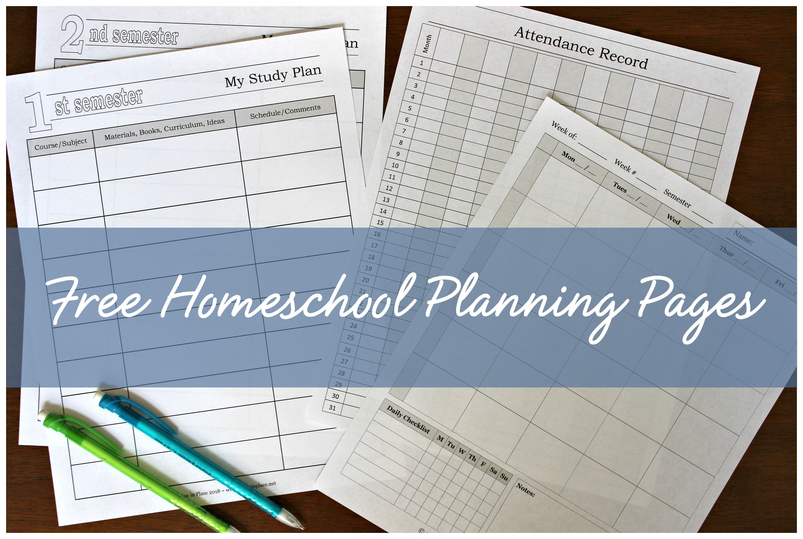 Free Homeschool Printables A Plan In Place