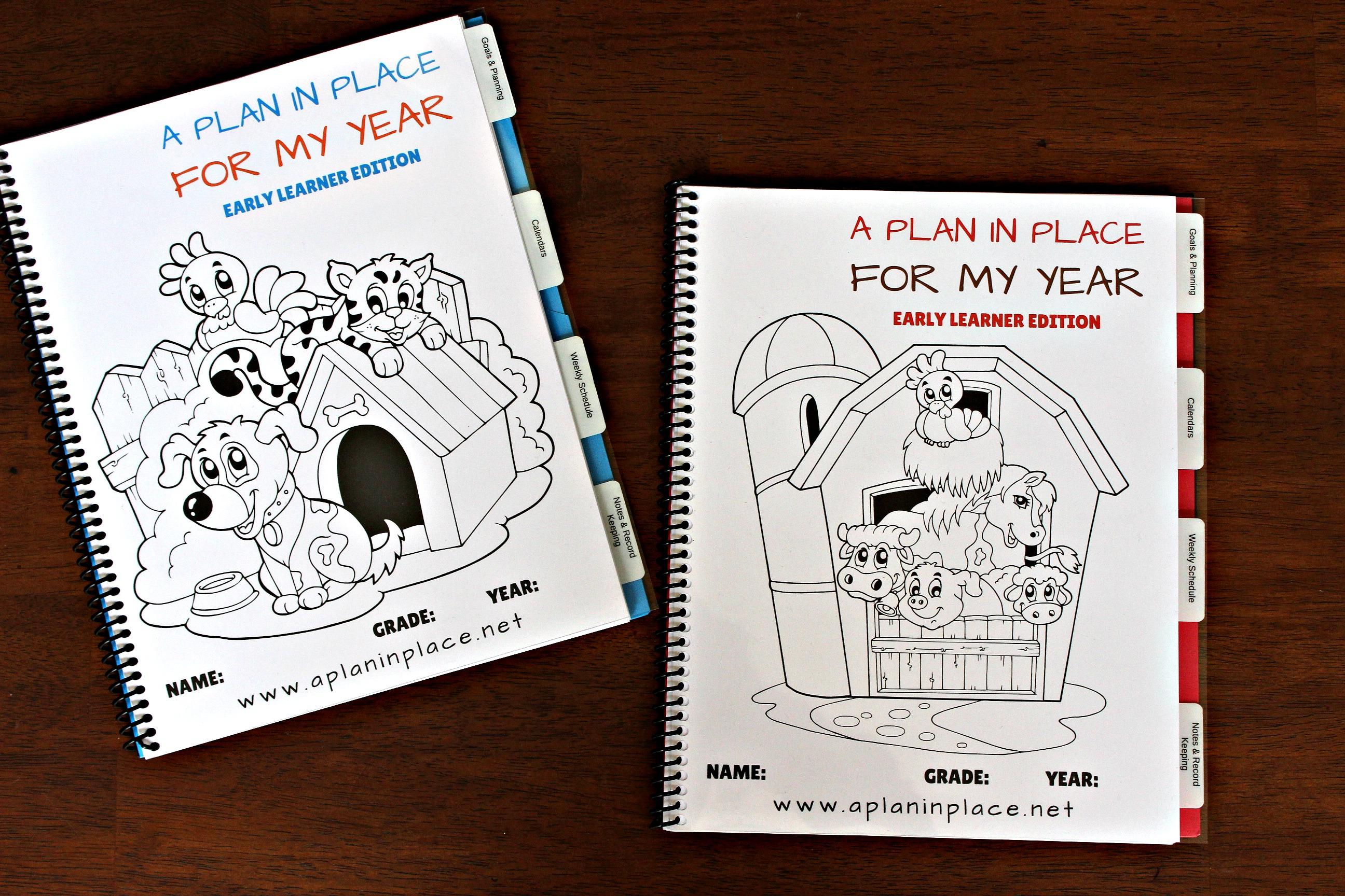 Update Kindergarten Homeschool Planner A Plan In Place
