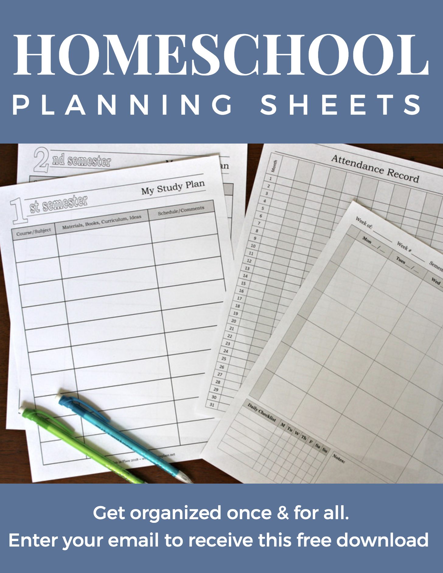 photograph about Free Printable Homeschool Record Keeping Forms known as Tailored Printable Homeschool Planner - A Program inside Location