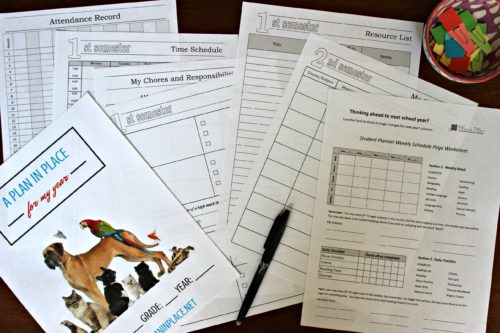 picture regarding Printable Homeschool Planners identified as Printable Planners