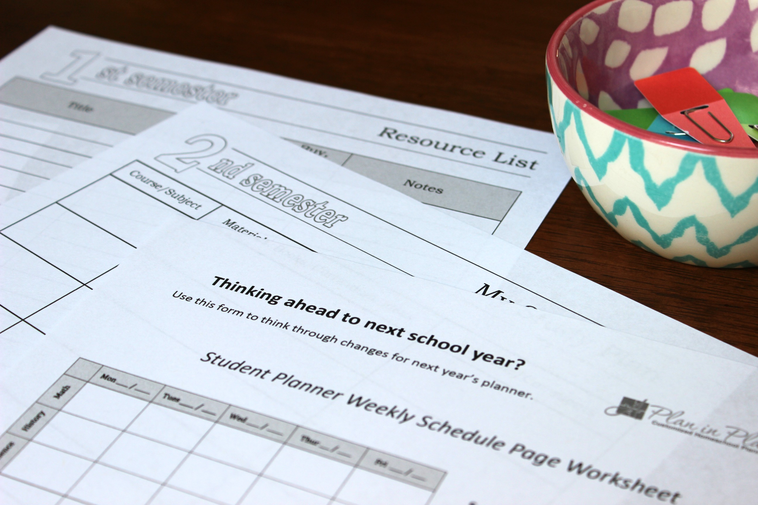 photograph relating to Homeschool Printable Planner known as Printable Planners